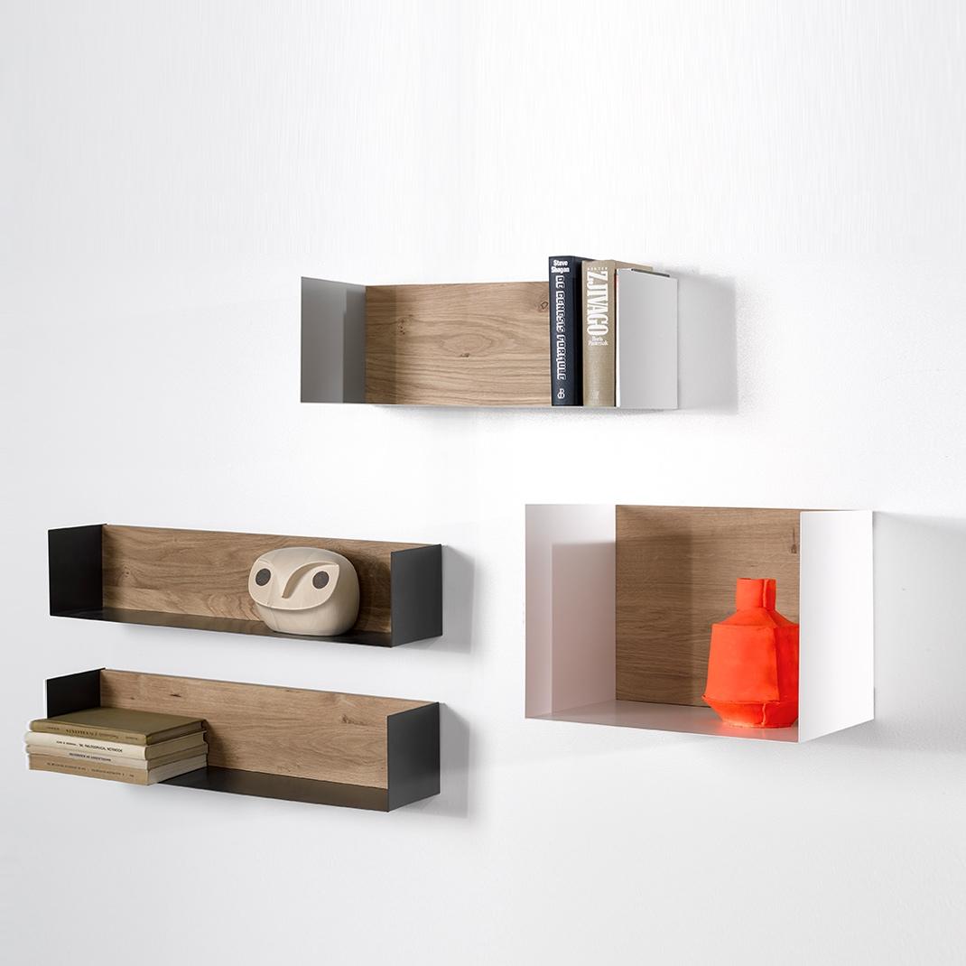 Ethnicraft Oak U shelves