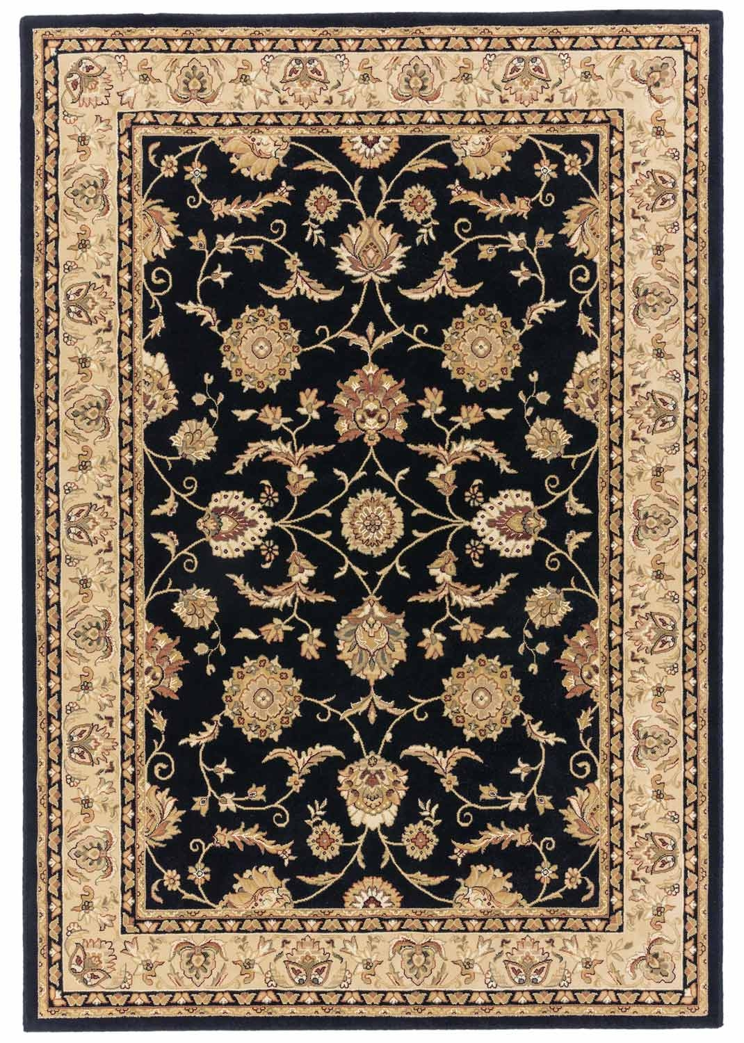 Visco rug black and gold