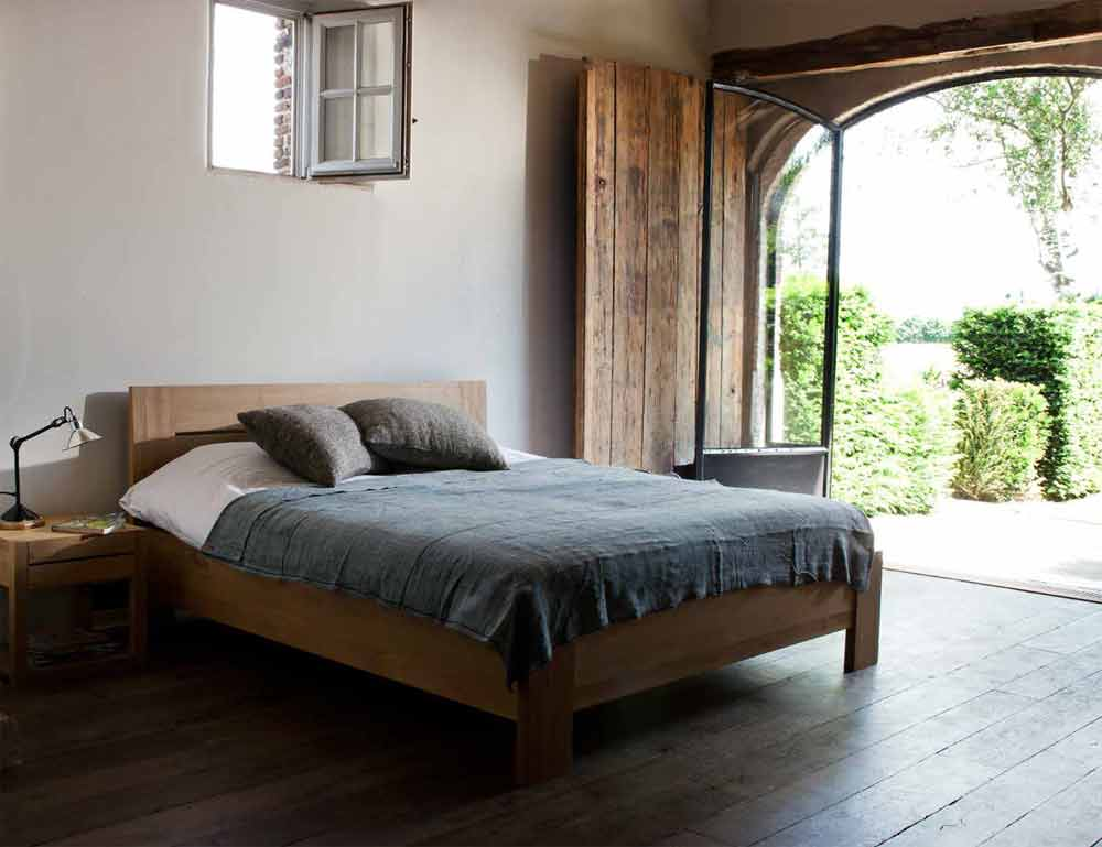 solid teak azur bed frame