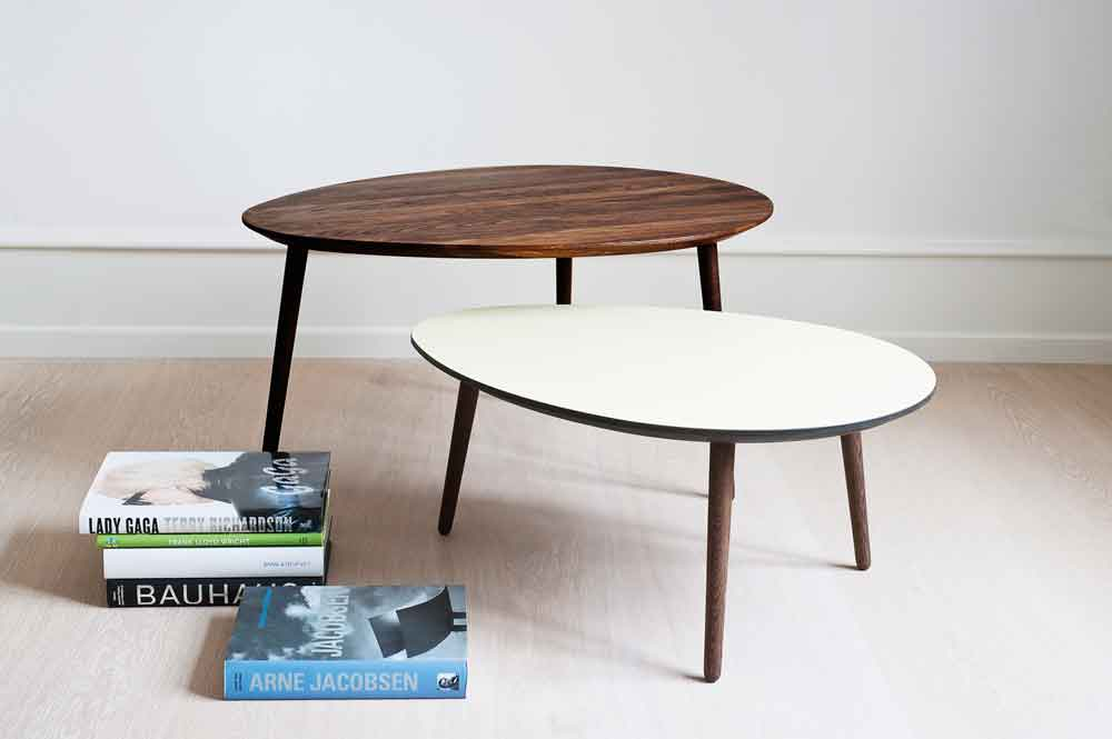 solid oak coffee table two level