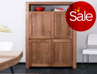 Solid oak 4 door storage cupboards