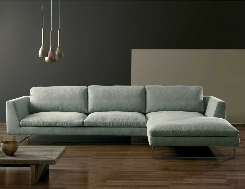 Fabric leather sofas