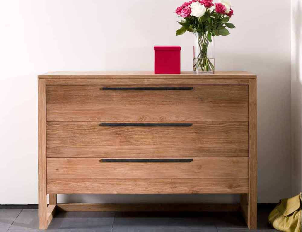 Solid Teak Horizon Chest Of Drawers