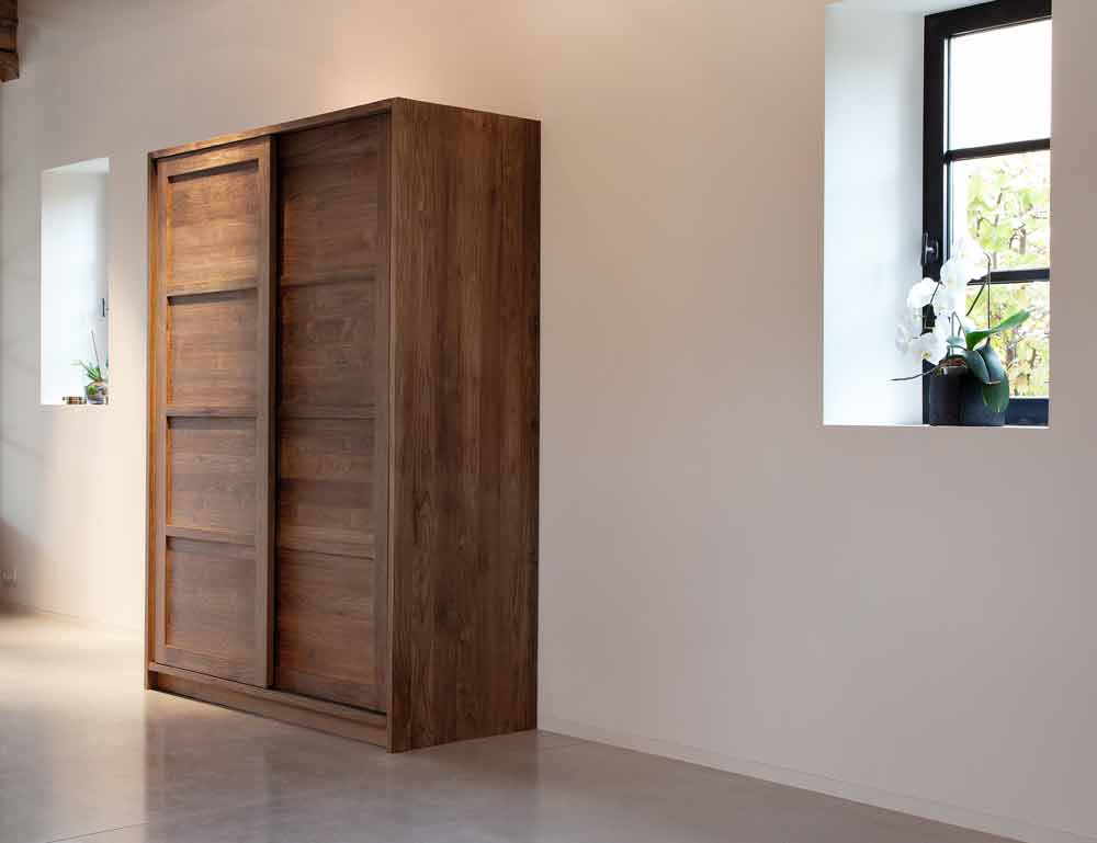 Pacific Reclaimed Walnut Triple Wardrobe