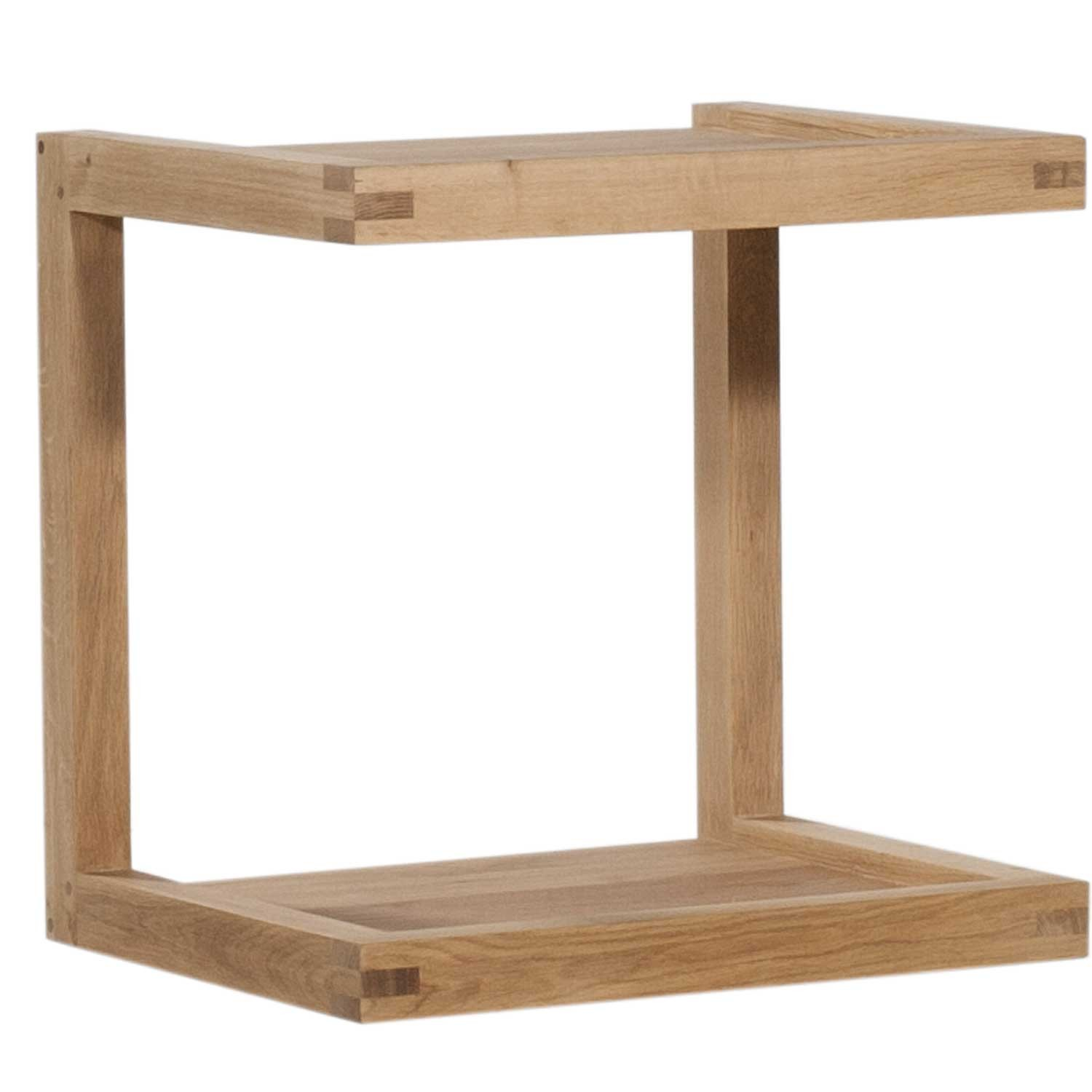Ethnicraft oak frame sofa side table for Sofa side table