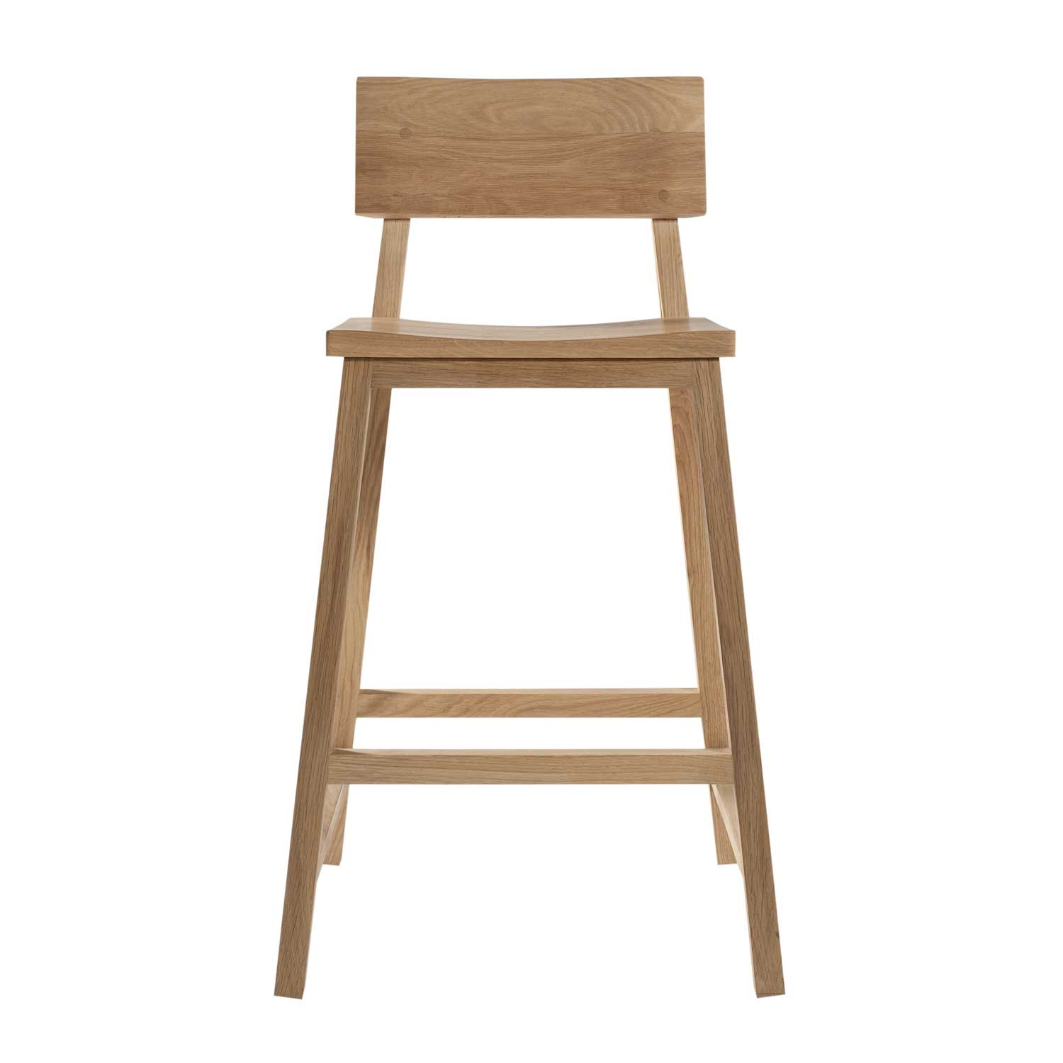 Ethnicraft Oak N3 Kitchen Counter Stool Without Amrest