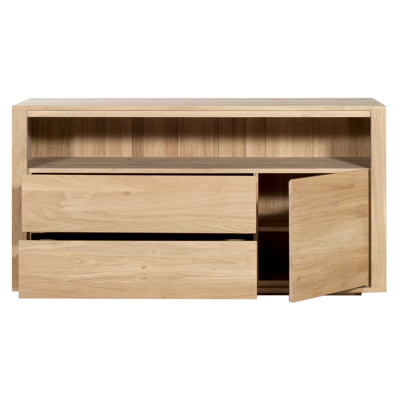 Oak Bedroom Chest Of Drawers Ethnicraft Oak Shadow Chest Of Drawers 2 Drawers 1 Door