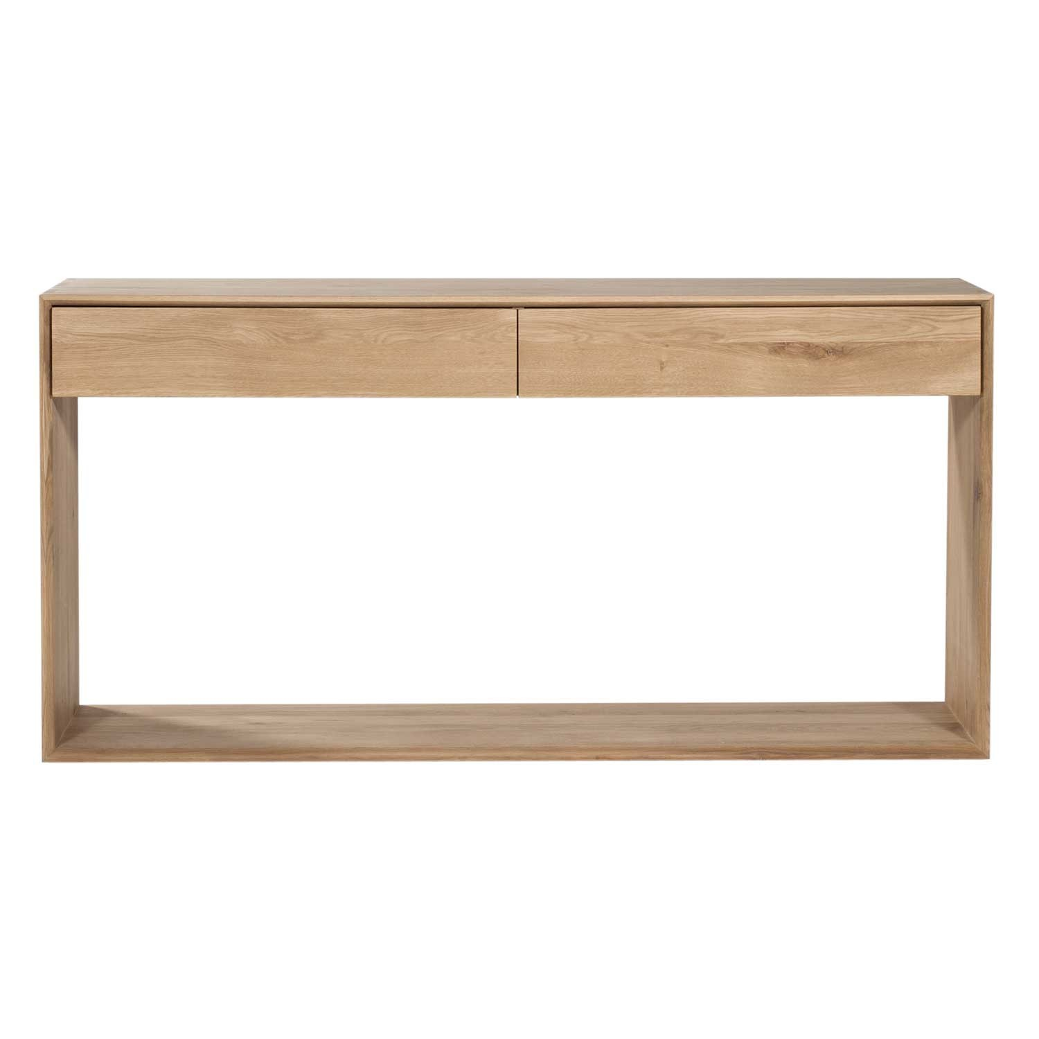 Ethnicraft oak nordic console 2 drawers - Table console chene ...
