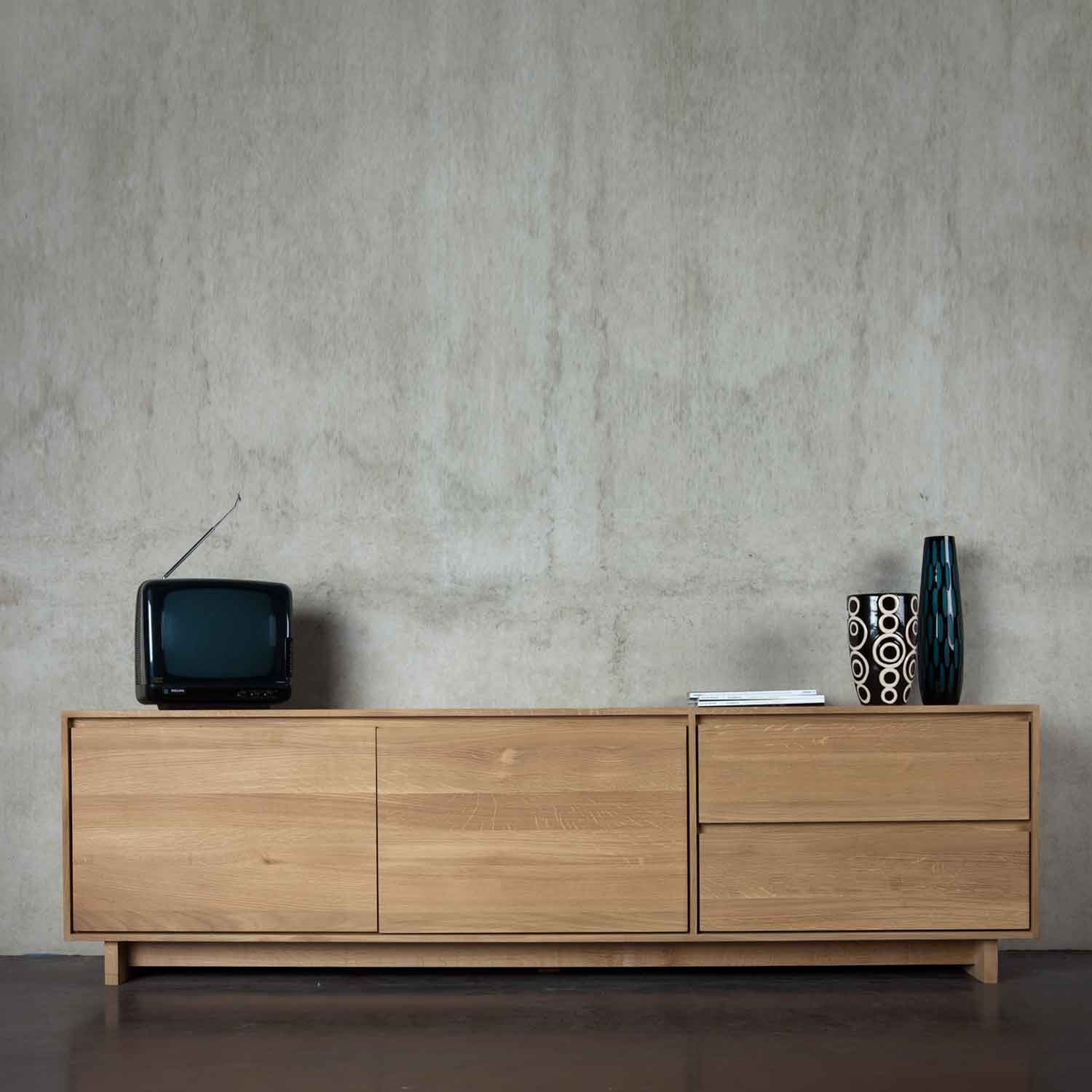 Ethnicraft Oak Wave Tv Units # Meuble Tv Luna