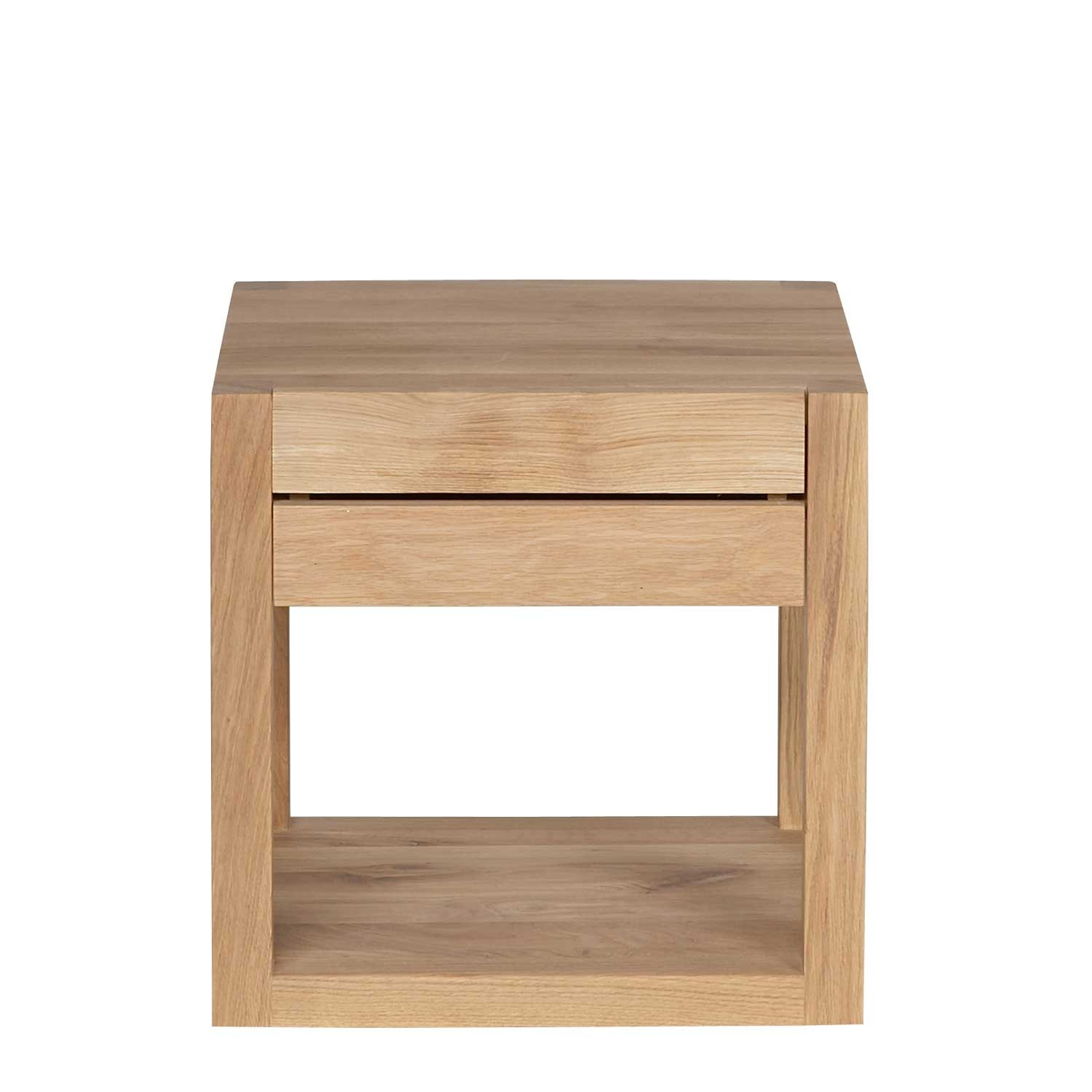 Ethnicraft Azur Oak Bedside Table Solid Wood Furniture