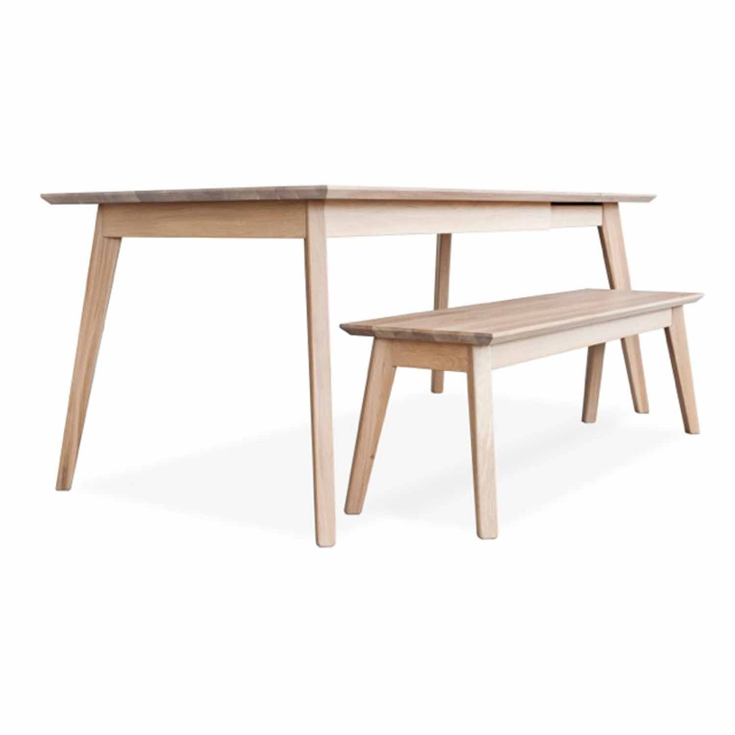 Bianco ii solid wood extendable dining table adventures in furniture Best wood for dining table