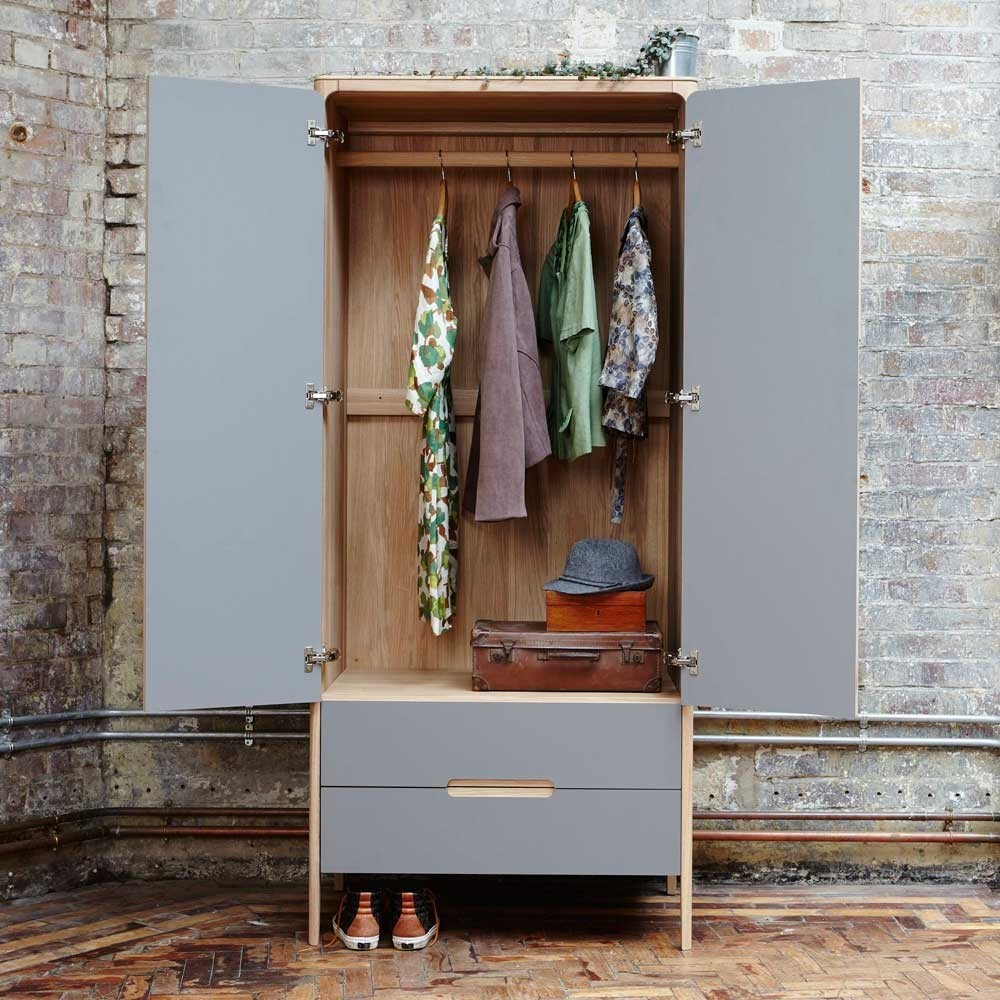 Como Narrow Wardrobe 2 Doors 2 Drawers