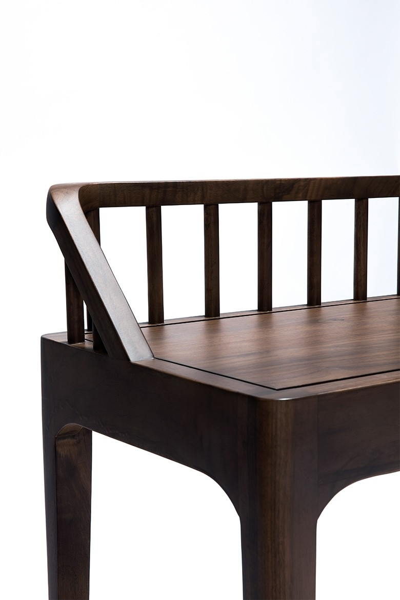 Ethnicraft Walnut Spindle Bench Occasional Amp Side Tables