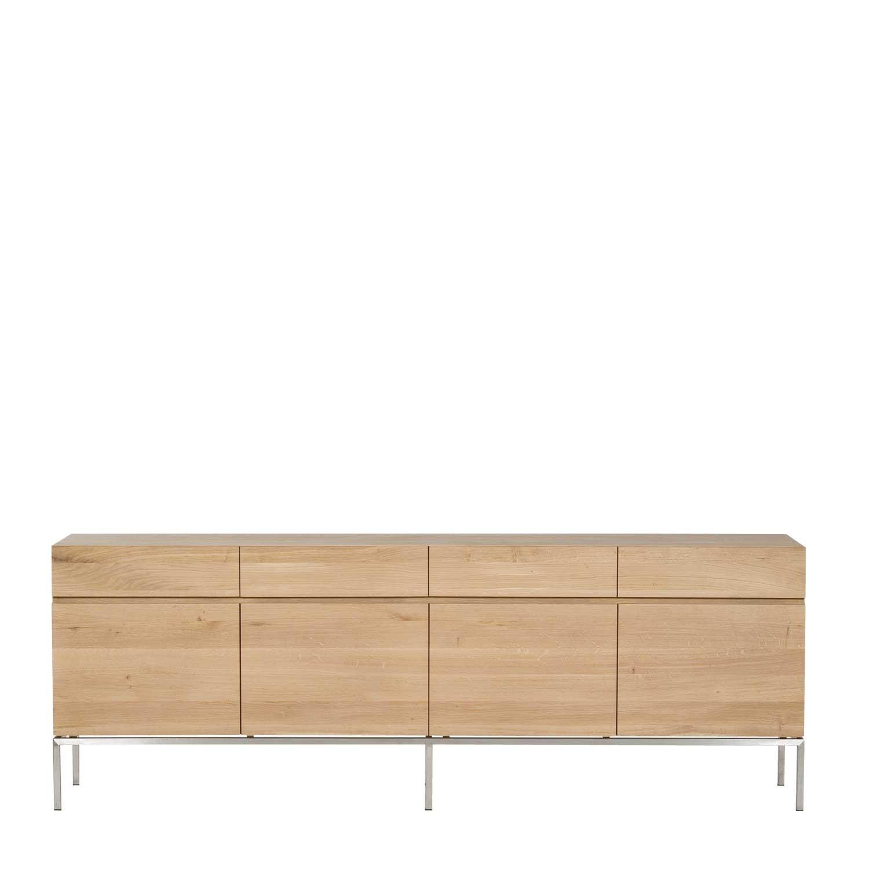 Ethnicraft ligna oak sideboards solid wood furniture for Sideboard 220 cm