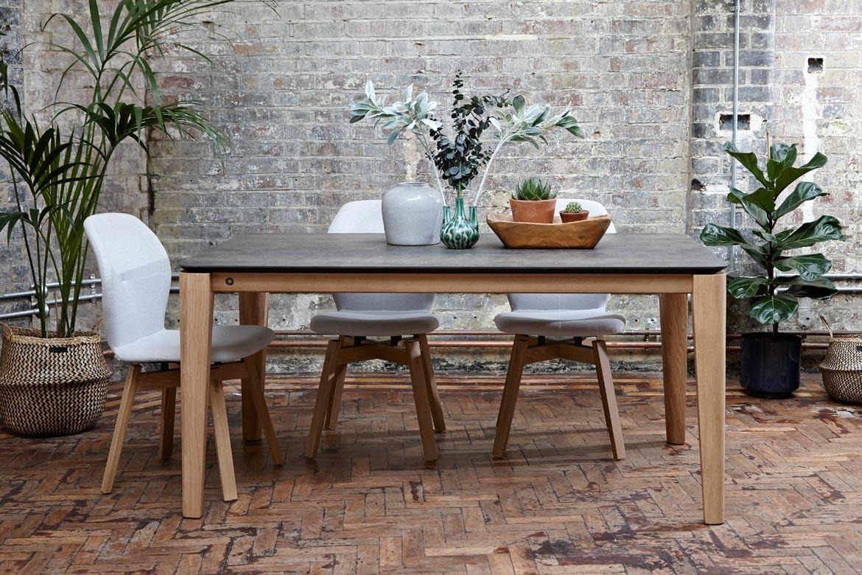 Mason Round Leg Pb2 Ceramic Walnut Dining Table
