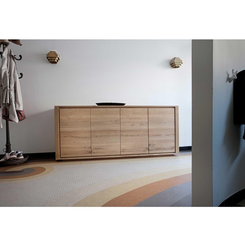 Ethnicraft shadow oak sideboard solid wood furniture for Sideboard 250 cm
