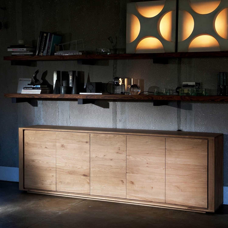ethnicraft shadow oak sideboard