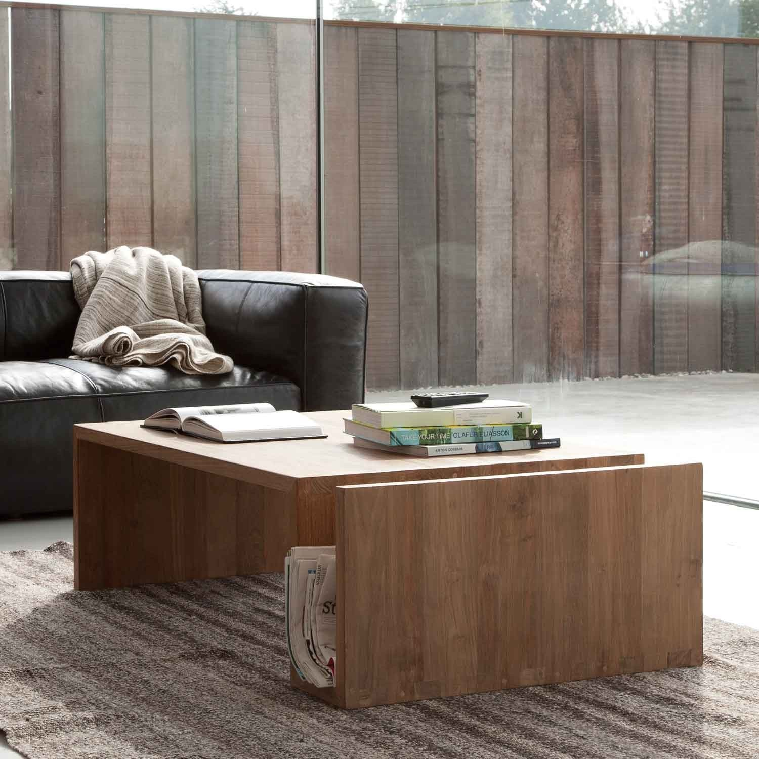Teak Coffee Table Naomi From Ethnicraft Solid Wood Furniture