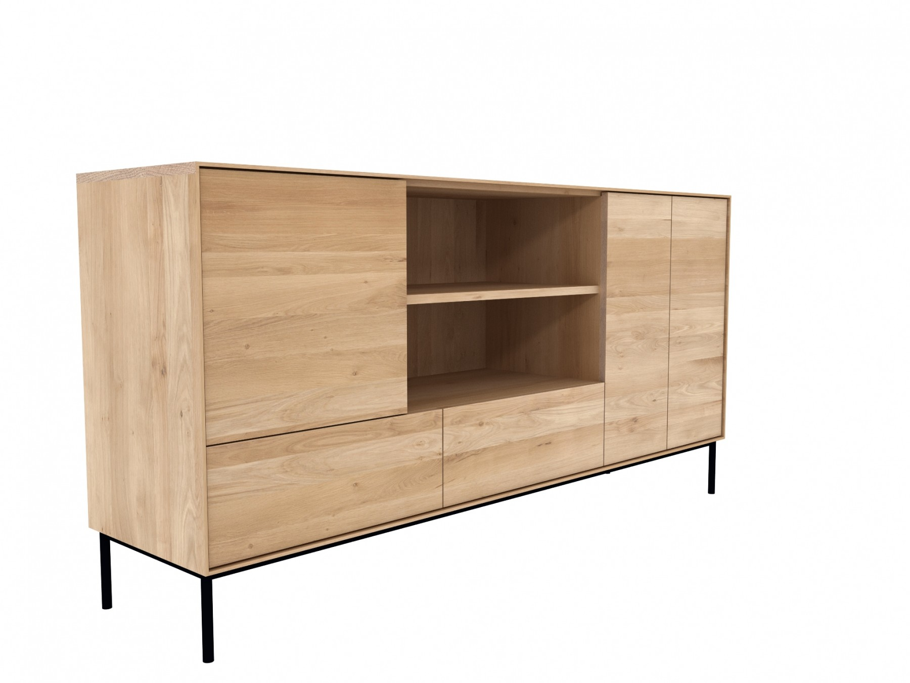 Ethnicraft Oak Whitebird Sideboard 3 Doors 2 Drawers