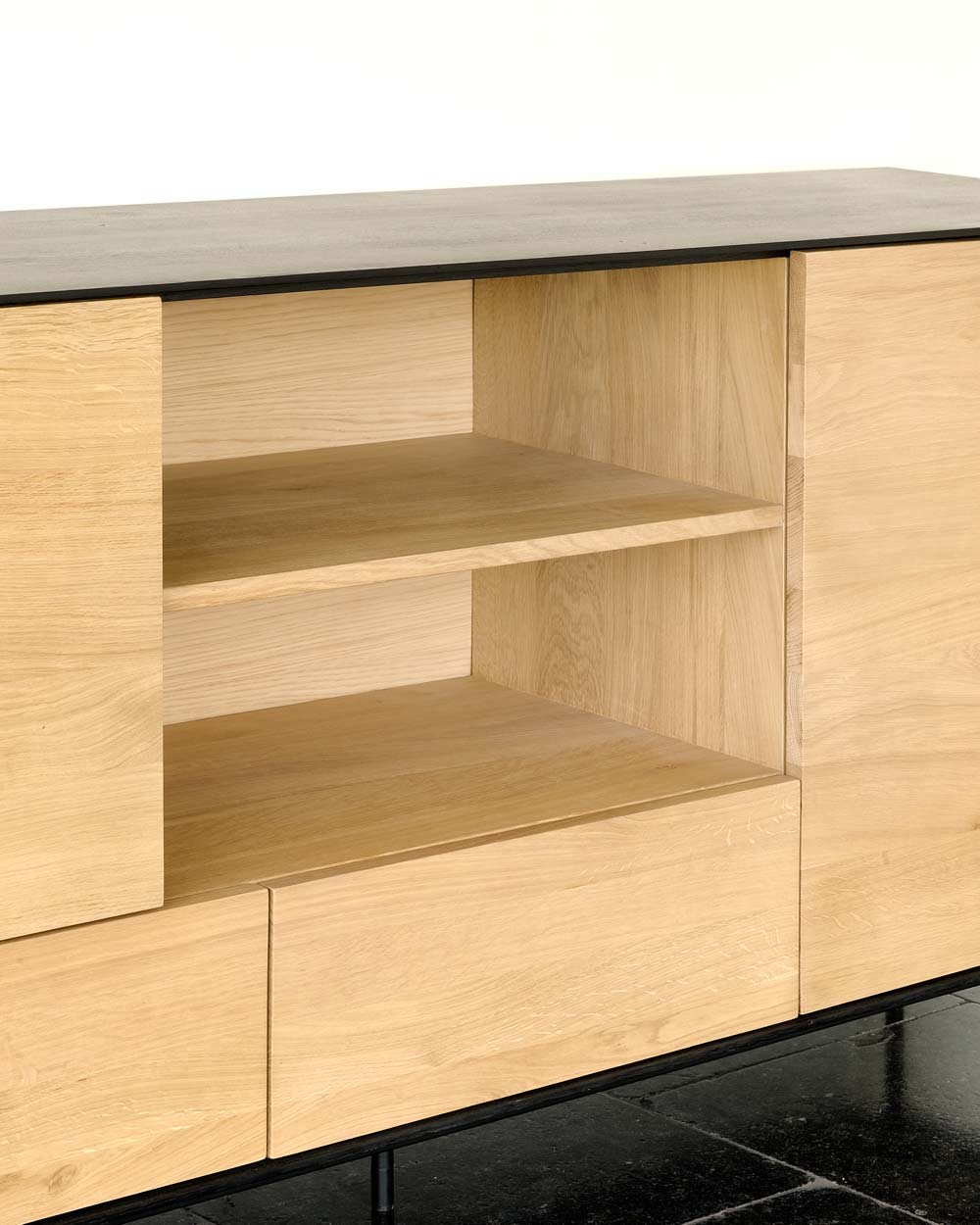New Northern Europe Small Coffee Table Size Combination Of: Ethnicraft Oak Blackbird Sideboard