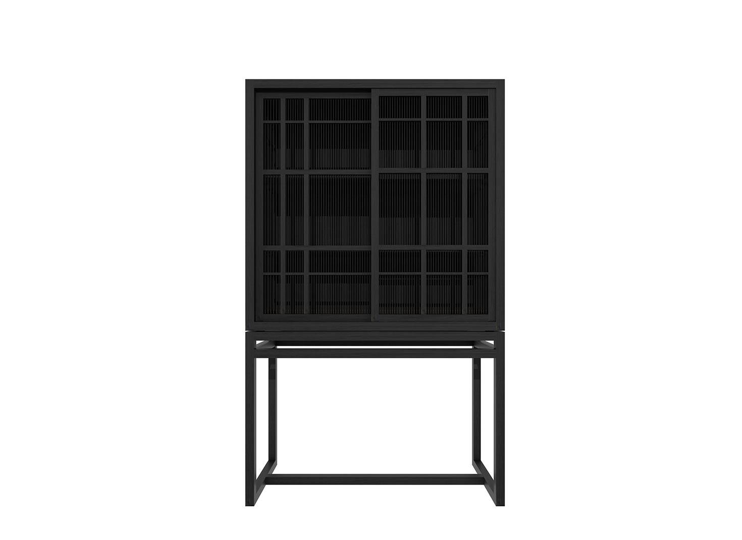 Ethnicraft Oak Burung Sideboard High – 2 Sliding Doors