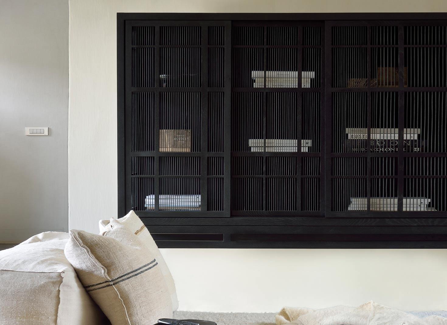 Ethnicraft Oak Burung Sideboard High – 4 Sliding Doors