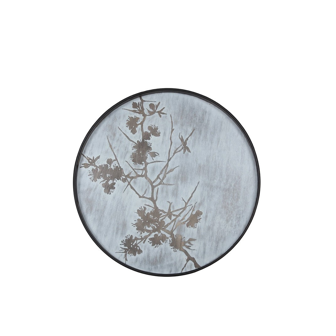 Notre Monde Blossom - Driftwood Round Tray - Small 48cm