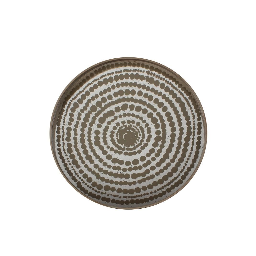 Notre Monde Gold Beads - Mirror Round Tray - Medium 61cm
