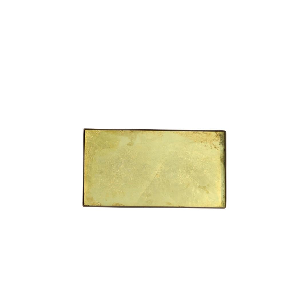 Notre Monde Gold leaf glass mini tray - Medium