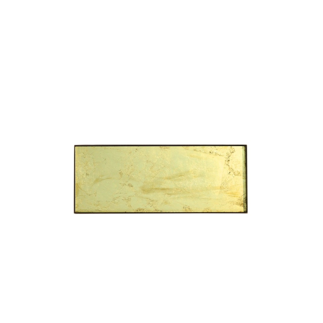Notre Monde Gold leaf glass mini tray - Large