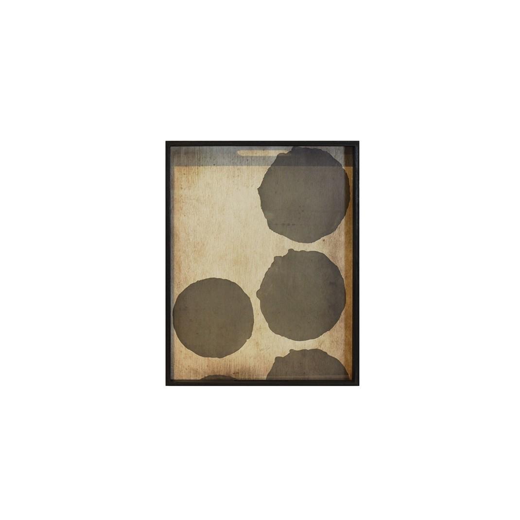 Notre Monde Silver Dots - Glass Rectangle Tray - Medium 61cm