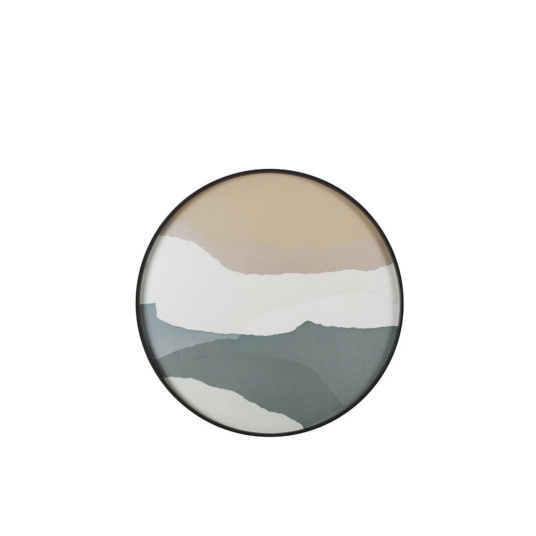 Notre Monde Slate Wabi Sabi - Glass Round Tray - Medium 61cm