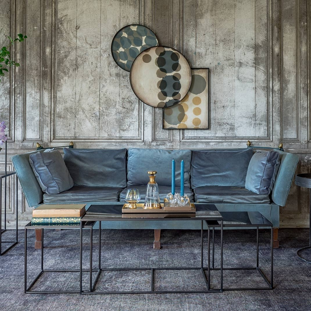 Notre Monde Trinity Coffee Table Set - Charcoal