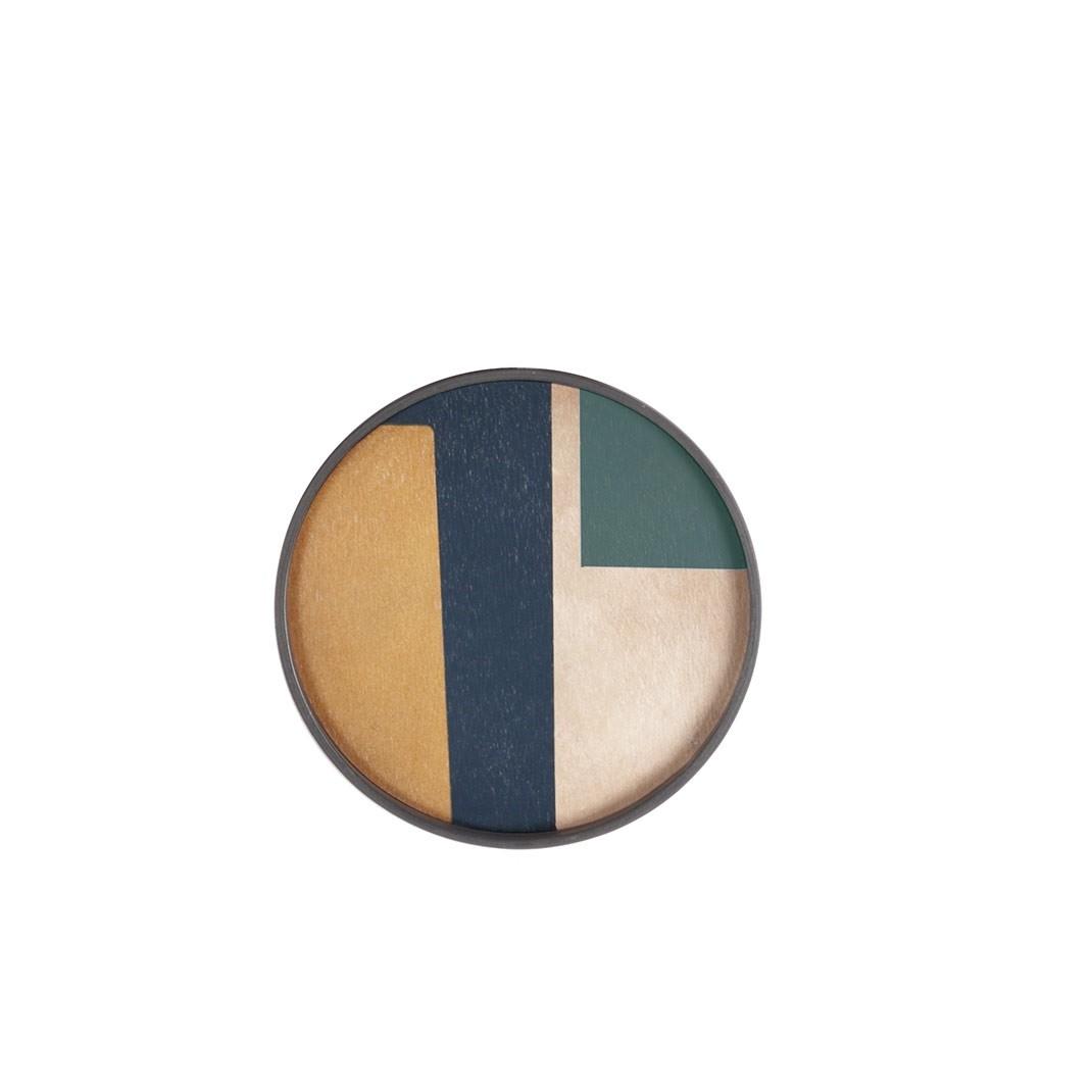 Notre Monde Geo Study - Driftwood Round Tray - Mini 30cm