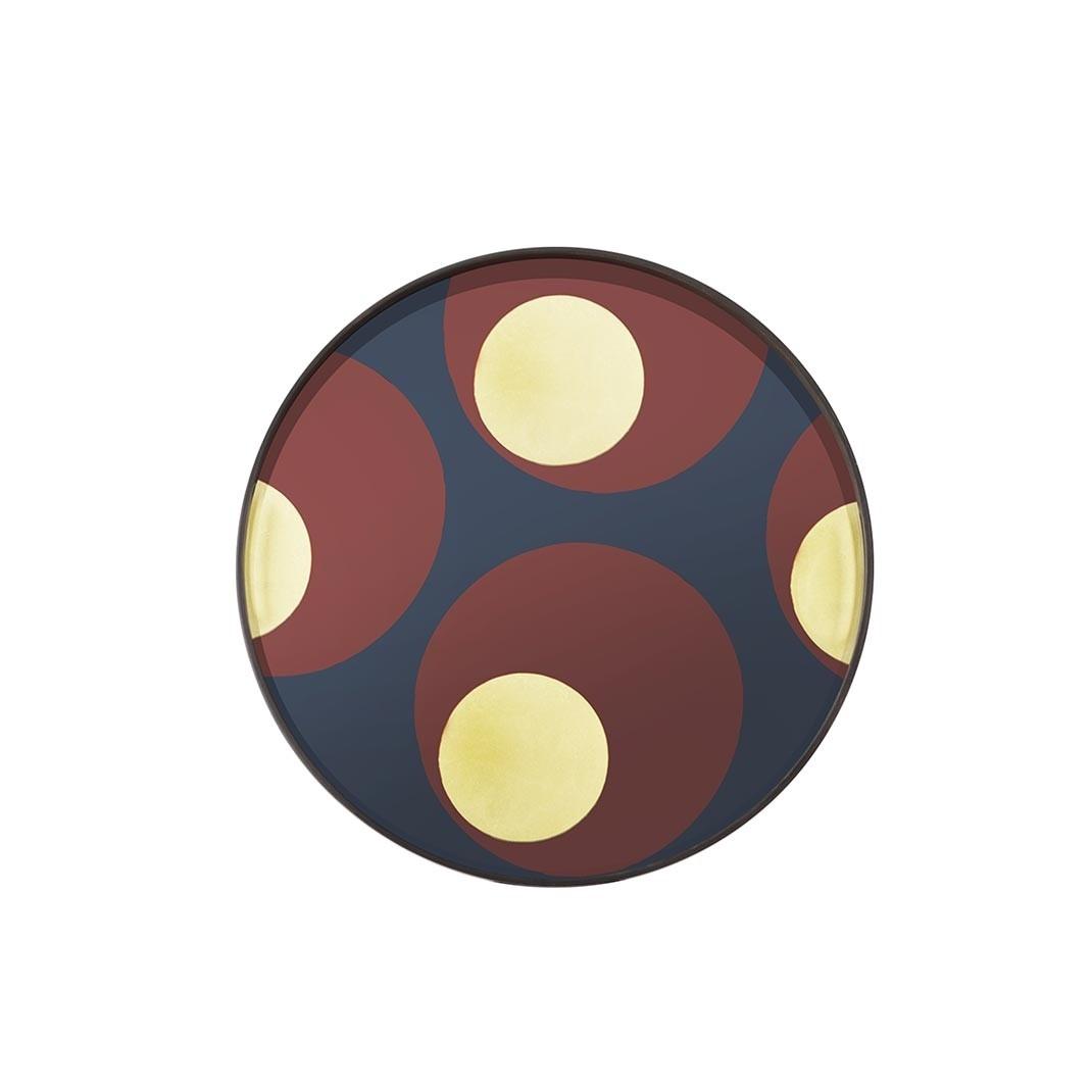 Notre Monde Turkish Dot - Glass Round Tray - Small 48cm