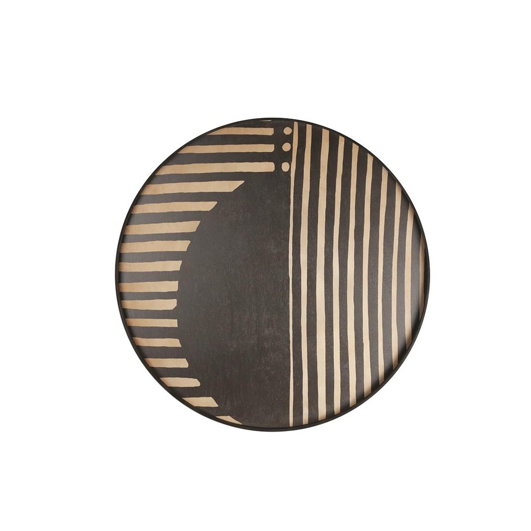 Notre Monde Asymmetric Dot Tray - Driftwood Round Tray - XL 92cm