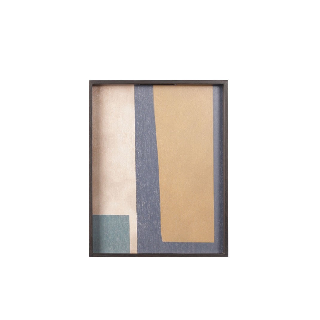 Notre Monde Geo Study - Driftwood Square Tray- Small 46cm