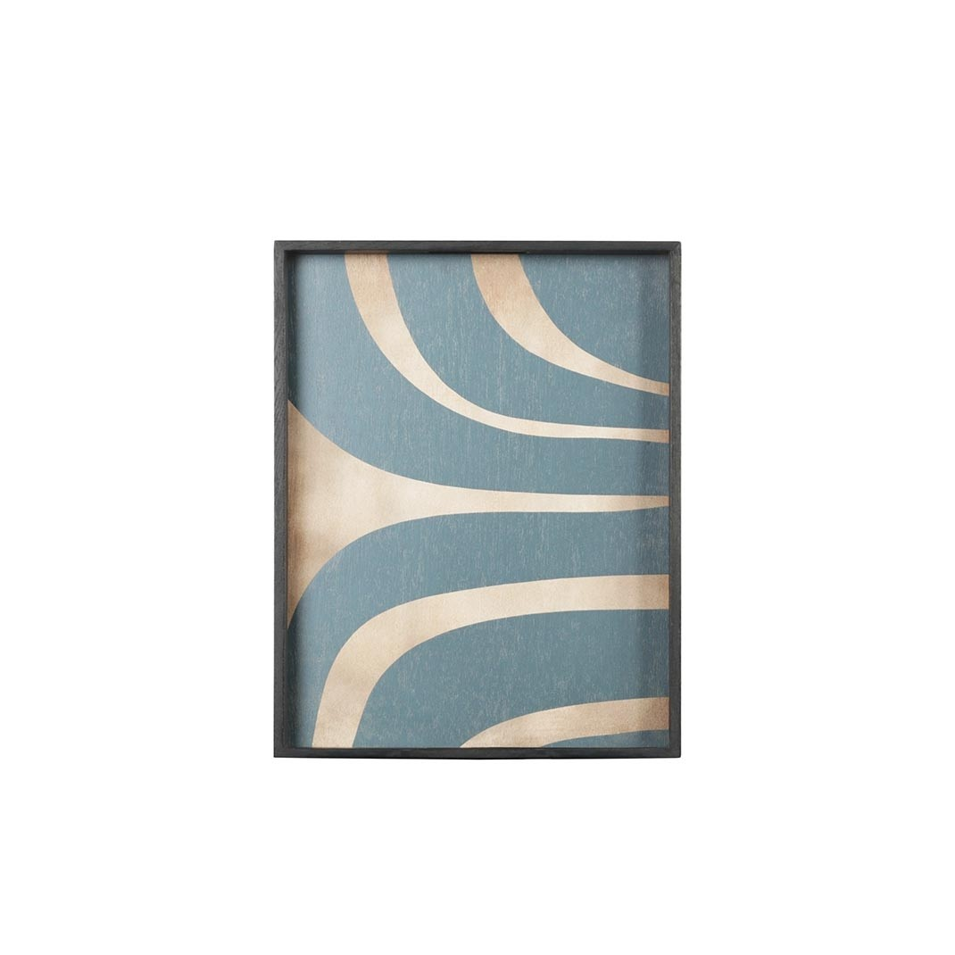 Notre Monde Slate Curves - Driftwood Rectangle Tray - Large 61cm