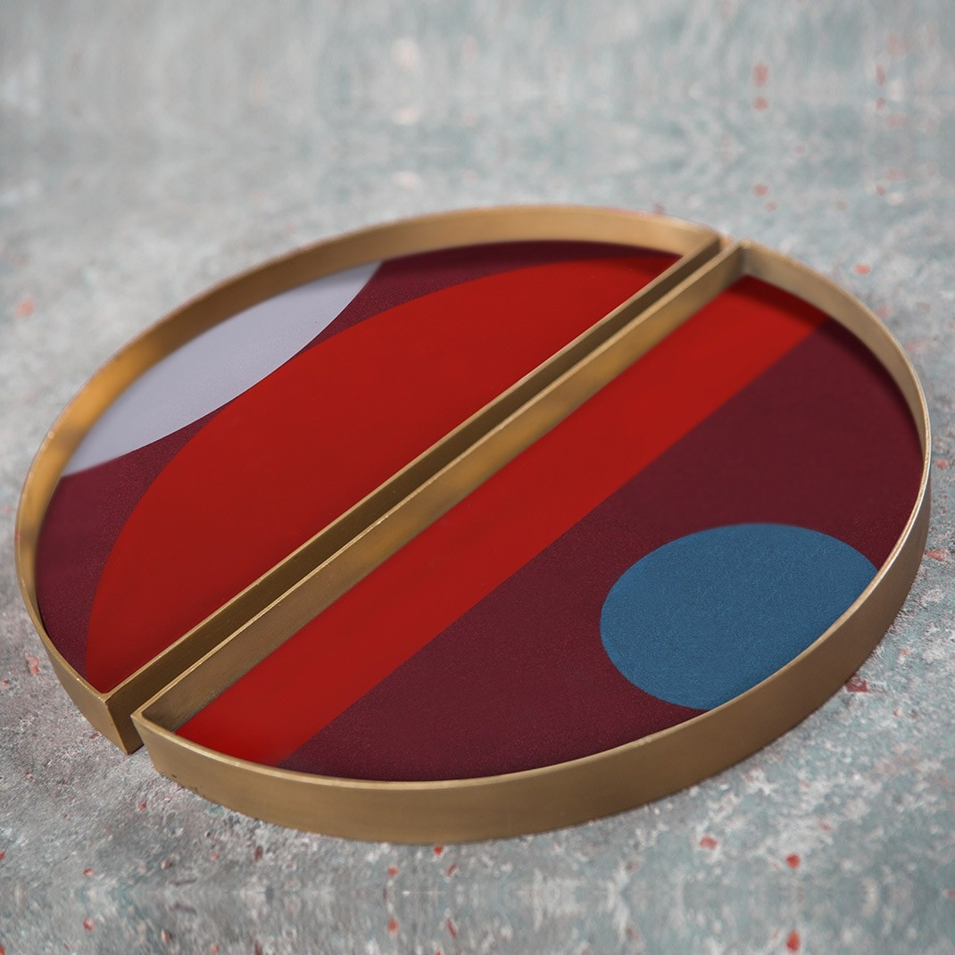 Notre Monde Garnet Curve - Mini Tray - Set of 2