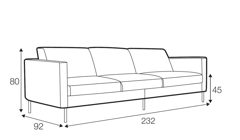 Kahlo 3.5 seater sofa - 3 seat cushions