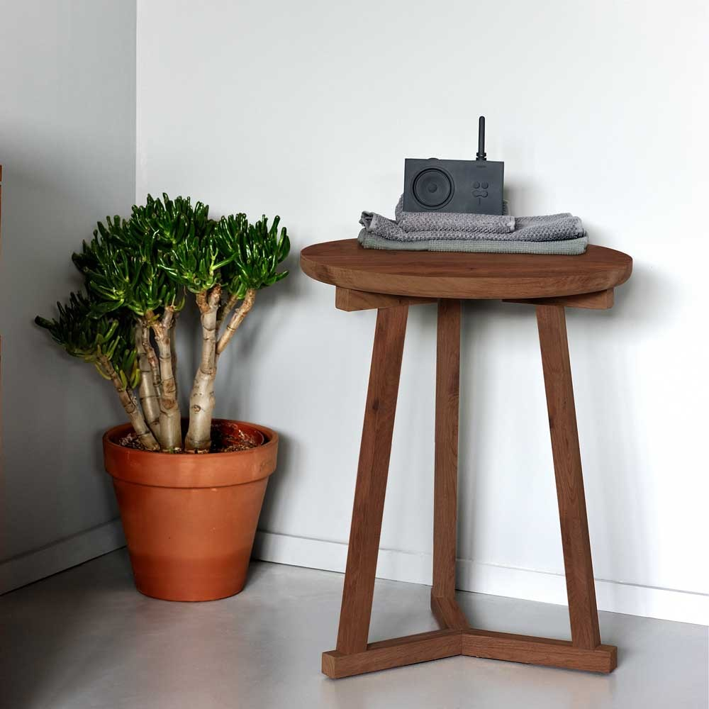 Ethnicraft Walnut Tripod side table - 46cm