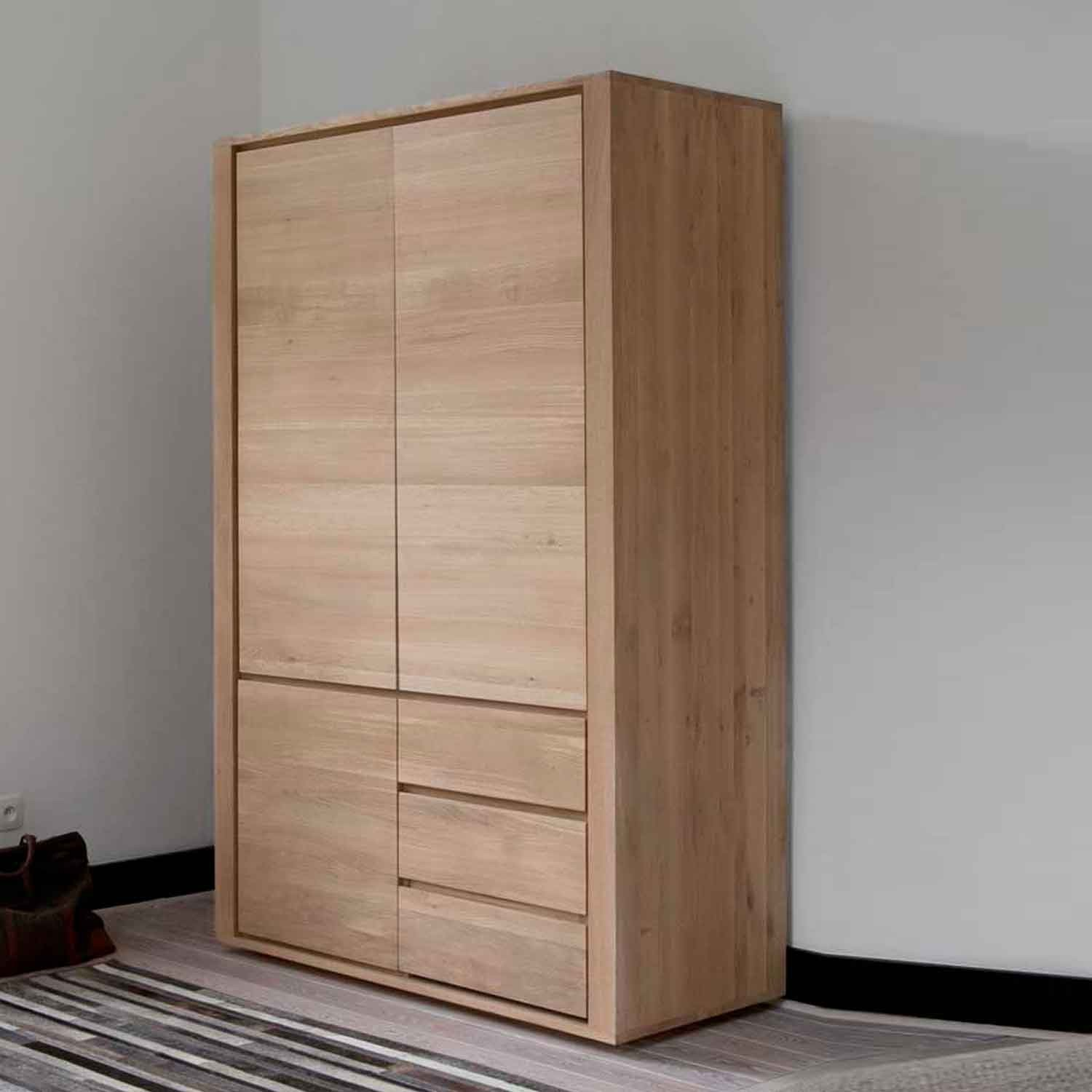 newco product or with drawers pine door reclaimed rustic wardrobe drawer