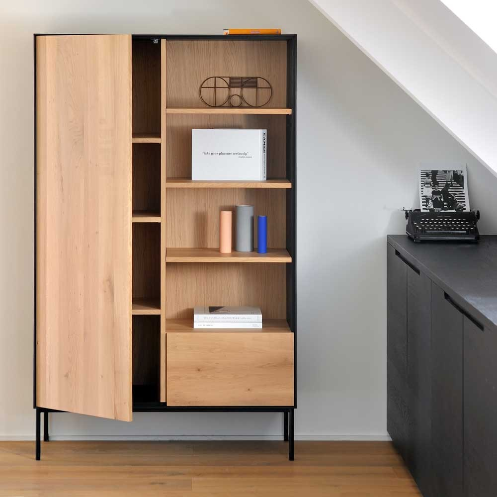 Ethnicraft Oak Blackbird storage cupboard ‐ 1 door / 1 drawer