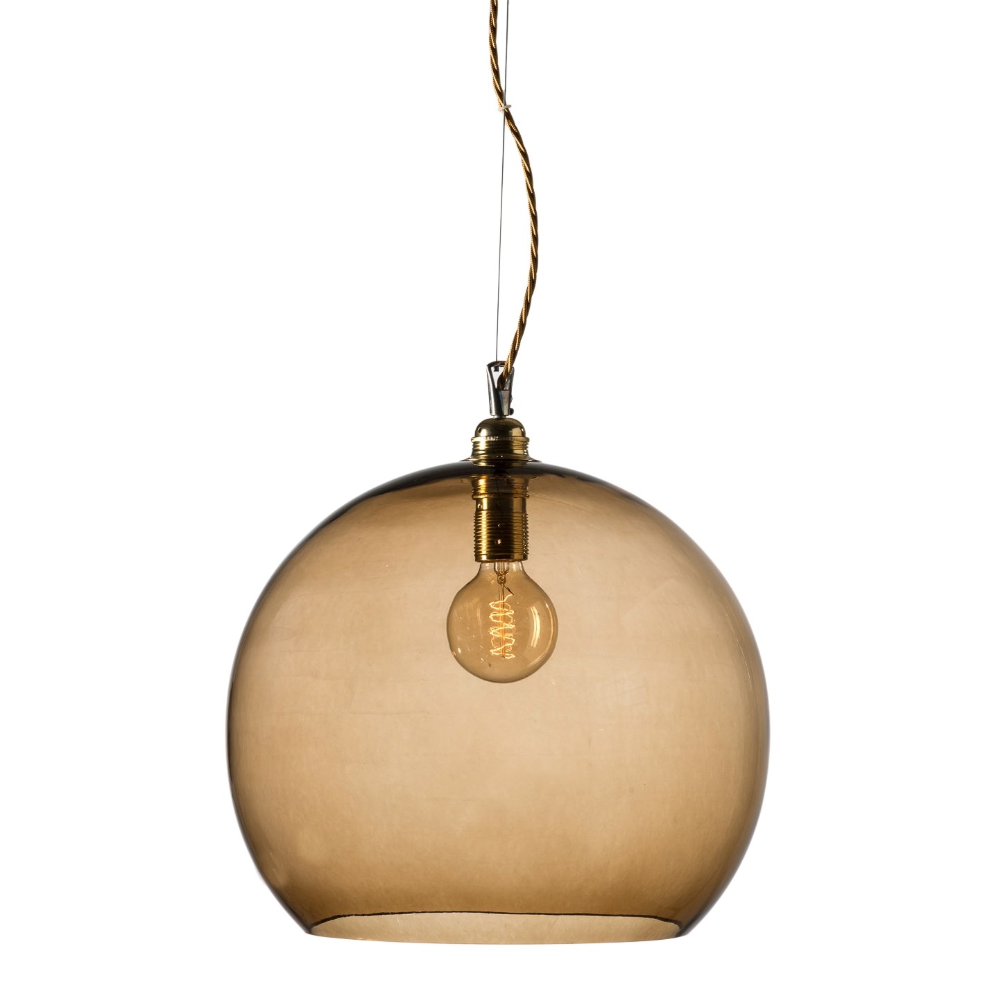 orb-glass-pendant-39-cm-chestnut-brass-wire