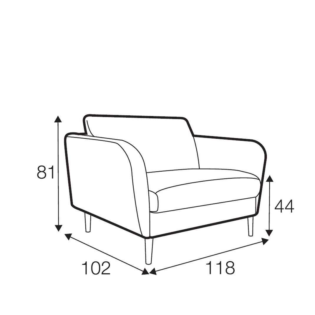 Reya armchair wide