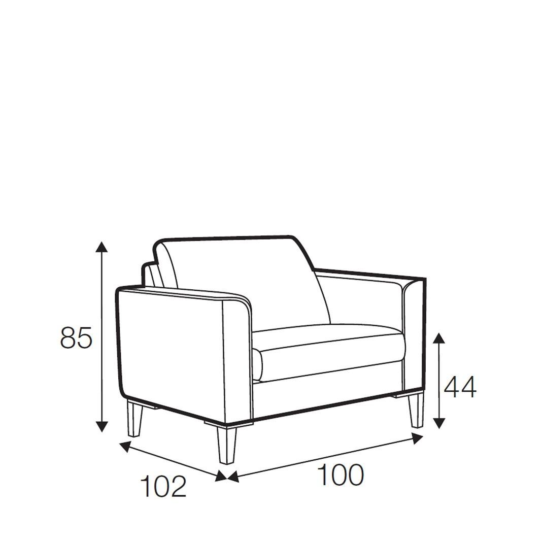 Hacienda armchair