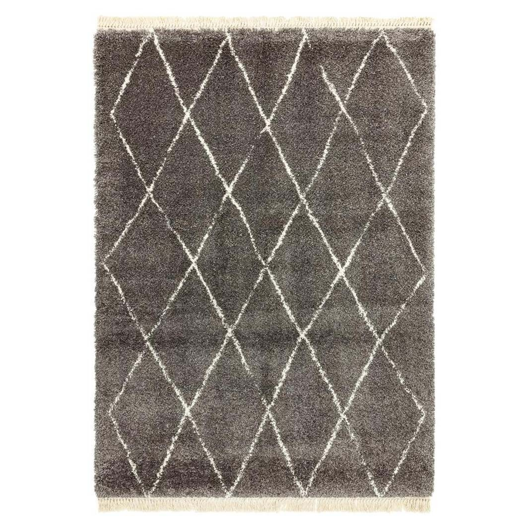 Berber Rug Diamond - Charcoal
