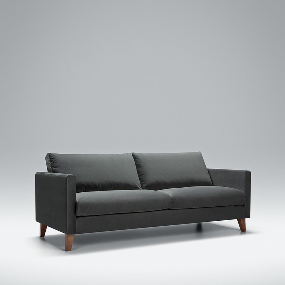 Express - Blade 3 seater sofa | Aquaclean Bellis Dark Grey