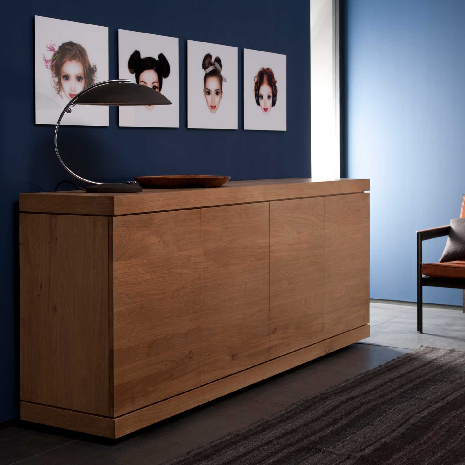 Ethnicraft Burger Oak Sideboard 150cm 3 Doors Solid