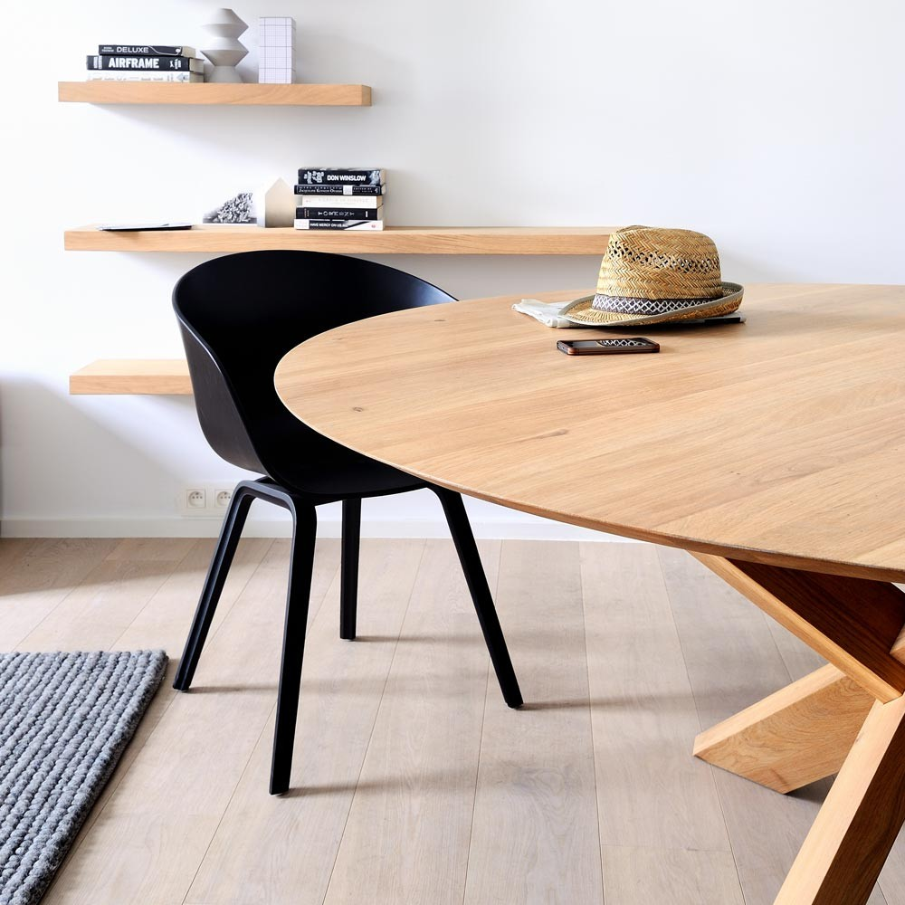 Ethnicraft Oak Circle Dining Table Adventures In Furniture